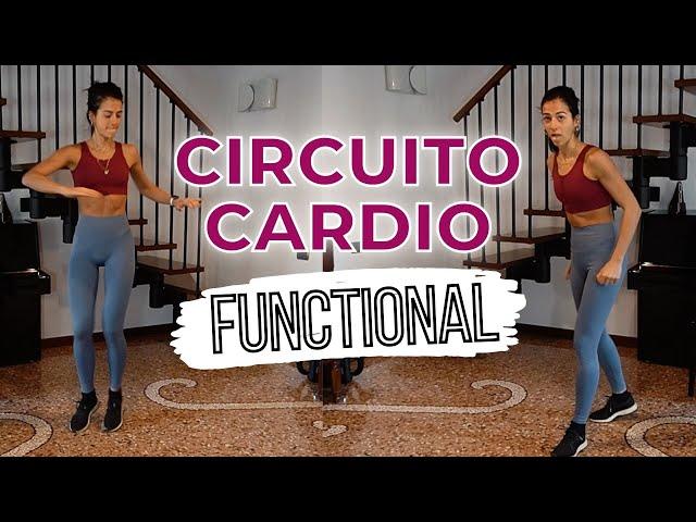 8 min CIRCUITO CARDIO ESERCIZI FUNZIONALI - divertente e stimolante | Silvia Fascians