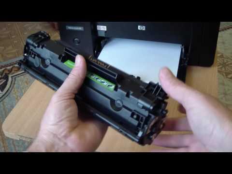 Смена картриджа в HP LASERJET M1132 MFP