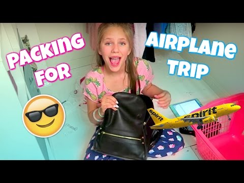 Packing for an Airplane Trip, Tips and Ideas | Hope's Vlogs