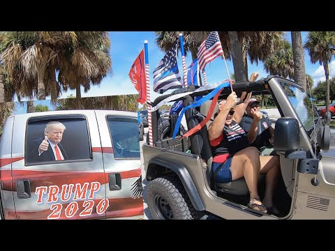 Trump Car Rally Sand Key Park Florida