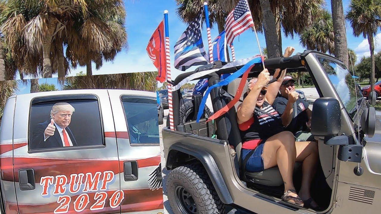 Trump Car Rally Sand Key Park Florida