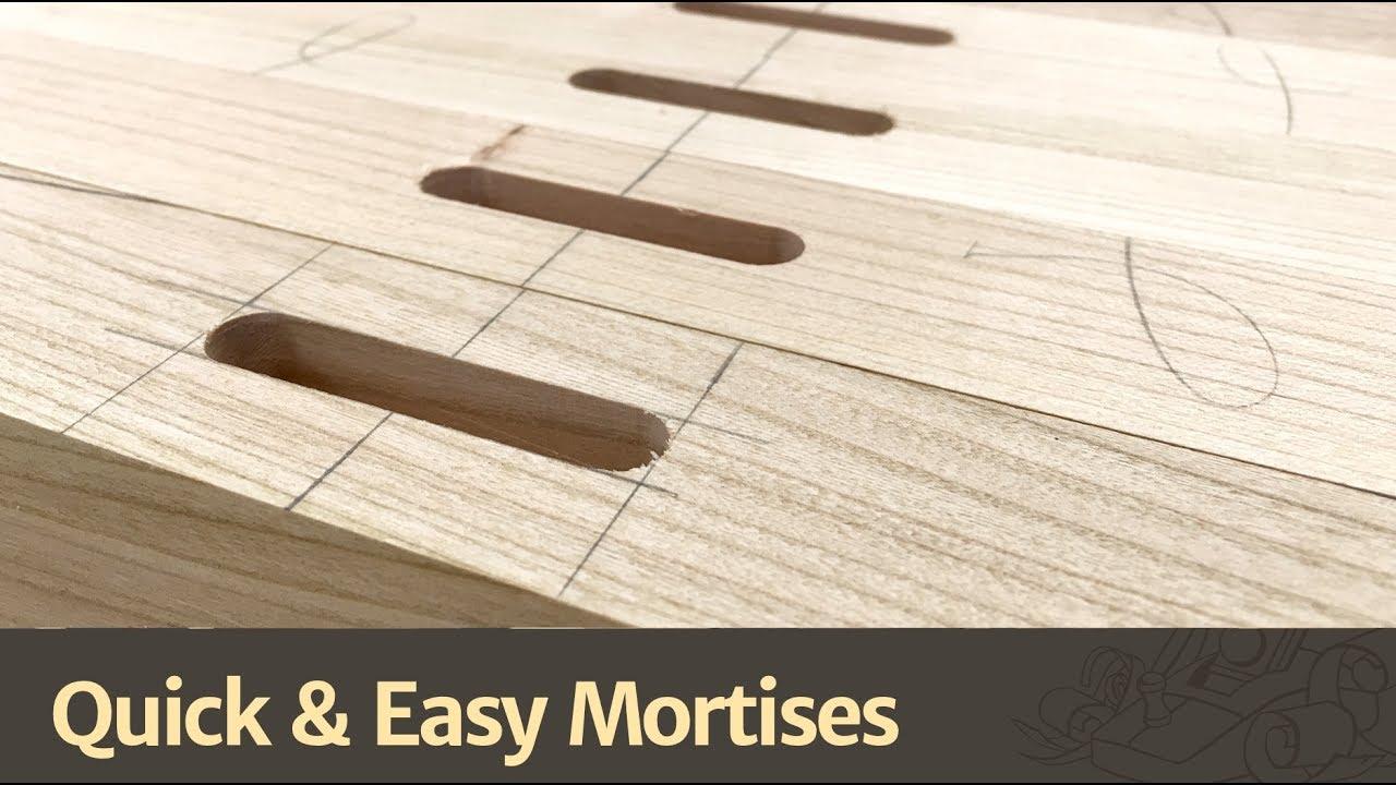 Quick & Easy Mortises - YouTube