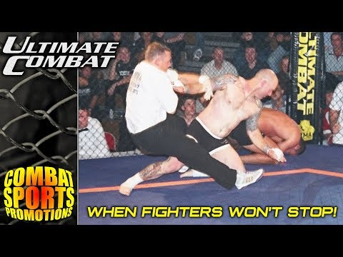 When MMA Fighters Wont Stop! REFEREE CHOKES OUT FIGHTER - CRAZY MMA MOMENTS!