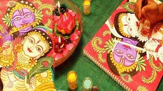 How to do Kerala Mural Painting (Radha and Krishna) #mycreativehub