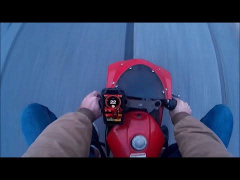 49CC POCKET BIKE TOP SPEED AND BURNOUT!