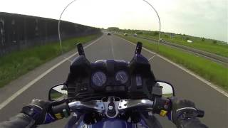 Ride on bmw r1100rt with gopro chin mounting