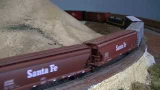 Ho Scale Santa Fe Trains in Mid 1980's. With Sound