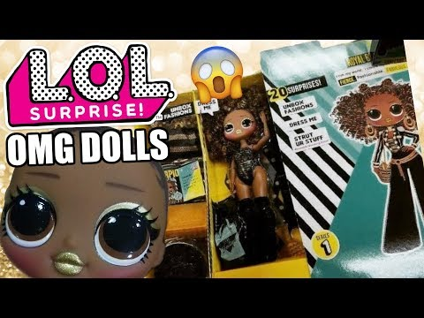 LOL Surprise OMG Fashion Dolls First Look | L.O.L. Bigger O.M.G. Full Size Barbie Dolls Reveal