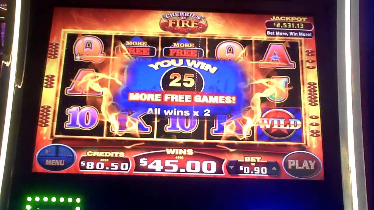Burning Cherry Slot Machine