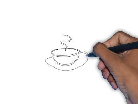 تعلم رسم فنجان قهوة Youtube