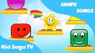The Shapes Song Karaoke Version   Best Preschool Kid Saga TV l Learning Videos for Kids