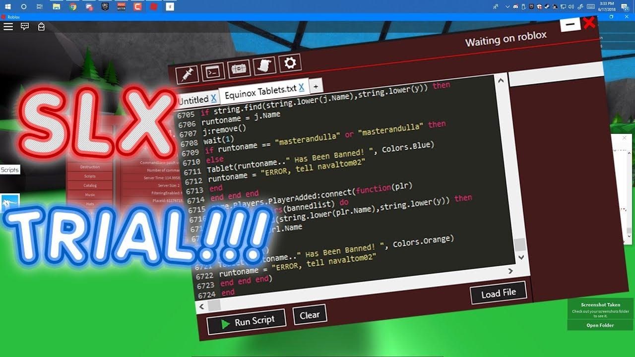 ⭐ SLX Trial!! ⭐ Full Lua Script Executor | Level 7 | WORKING!!!