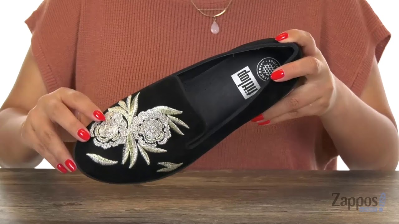 32f011368c FitFlop Audrey Baroque Smoking Slippers SKU  9076556 - YouTube