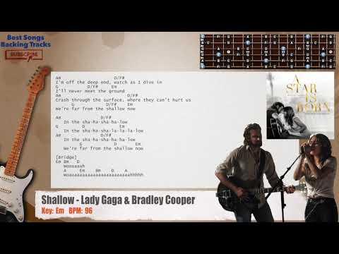 Shallow - Lady Gaga & Bradley Cooper (A Star Is Born Theme) Guitar Backing Track