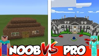 NOOB vs PRO - STARTER HOUSE - in Minecraft PE