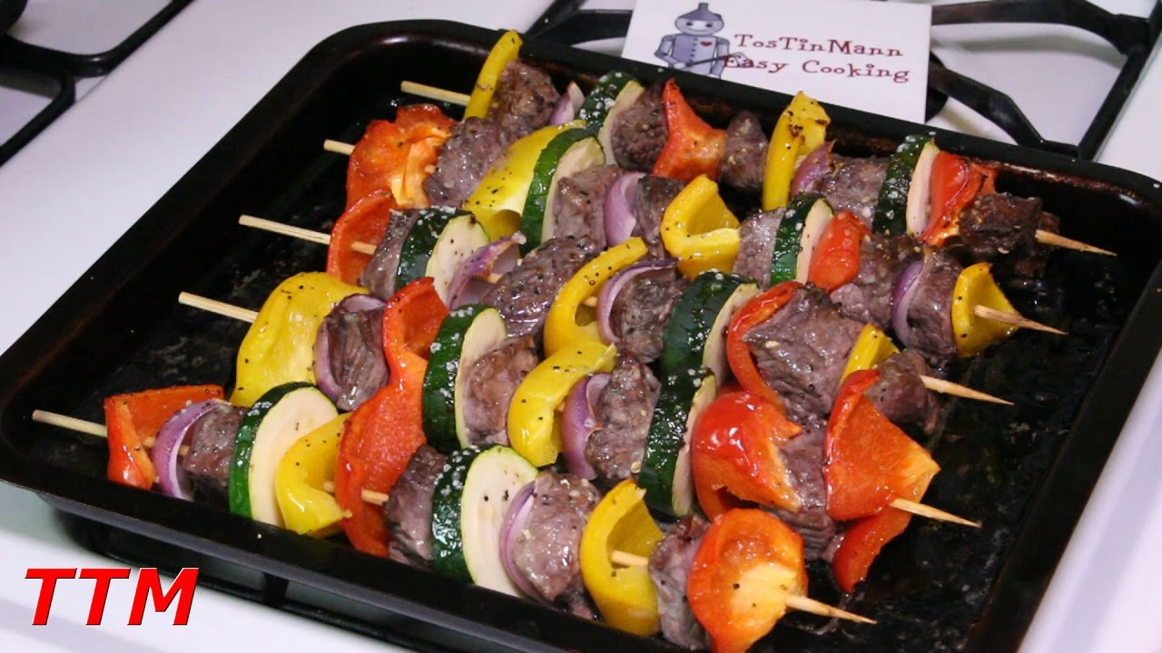 How long do you cook beef shish kabobs on the grill