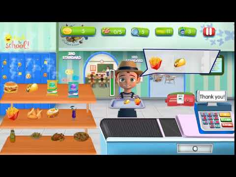 Preschool Cafe cashier Girl: Cash Register Games-Android Game Play