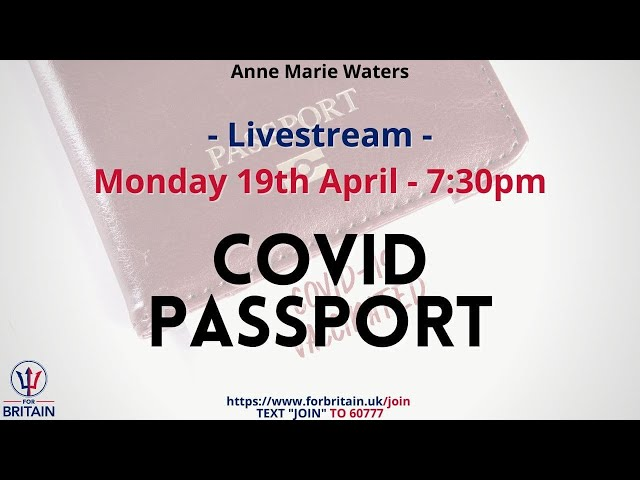 For Britain Live: 19th April at 19.30 GMT