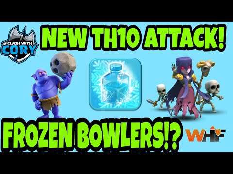*NEW TH10 ATTACK STRATEGY* Frozen Bowler Witch! Hybrid of Frozen Witch and Bowler Witch!