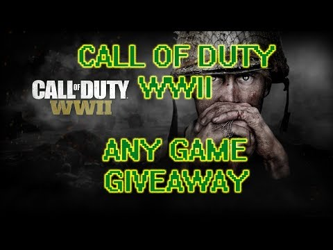 CALL OF DUTY WWII!!!: ANY GAME GIVEAWAY!!!