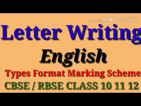 Letter Writing | Writing section | ENGLISH | CBSE | RBSE ...