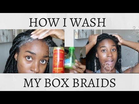 HOW TO WASH BOX BRAIDS