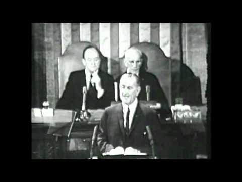 an analysis of the state of the union speech of president lyndon b johnson in 1964
