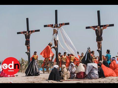 Reenactment of Jesus' Crucifixion in Philippines