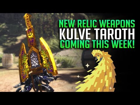 NEW RELIC WEAPONS! Time To Get Excited About Kulve Taroth? Monster Hunter World Update thumbnail