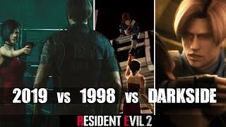 Ada Wong Betrays Leon - RE2 Remake VS Original RE2 VS Darkside Chronicles Comparison