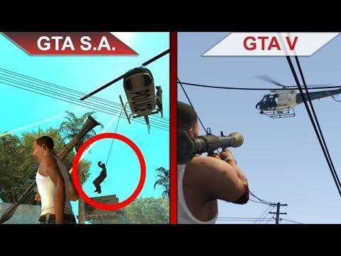 THE BIG GTA San Andreas vs. GTA V SBS COMPARISON | PC | ULTRA