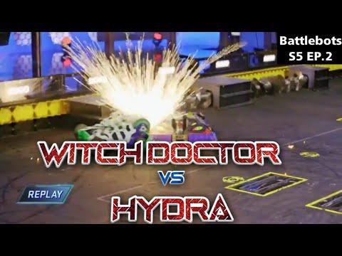 Download Witch Doctor vs Hydra   Battlebots Season 5 Episode 2   BotxFan
