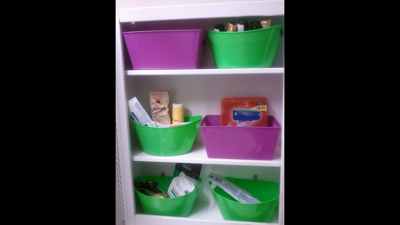 Dollar Tree 2014 How To Organize MEDICINE CABINET Containers Cheap