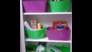 Dollar Tree 2014 How To Organize Medicine Cabinet  Containers Cheap Storage For $1