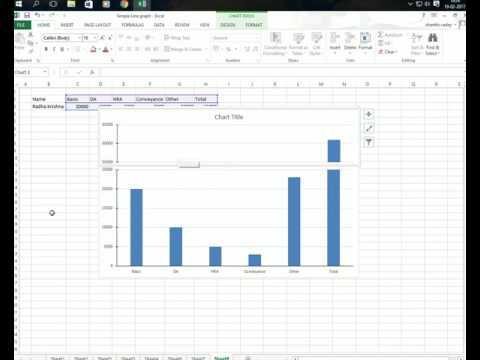 How To Use MS Excel Part 13 - Simple Broken Axis Chart
