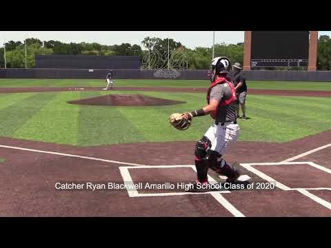 Catcher Ryan Blackwell Amarillo High School Class of 2020