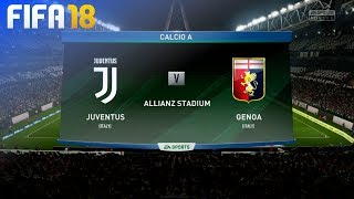 FIFA 18 - Juventus vs. Genoa @ Allianz Stadium