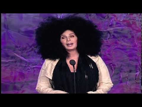 Cher presents Chaz Bono with GLAAD award