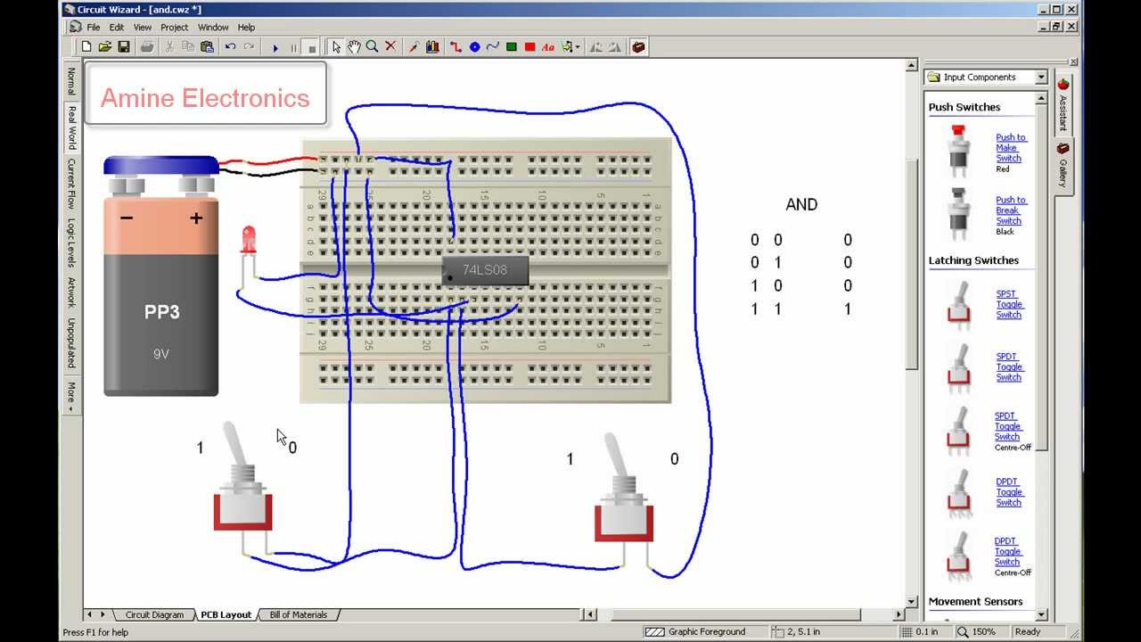 Integrated Circuit Simulator - Wiring Diagram For Light Switch •