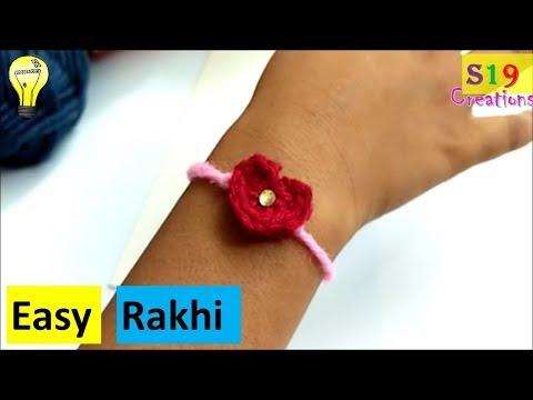 how to make rakhi at home | heart shape rakhi with wool | Rakshabandhan | Rakhi making ideas
