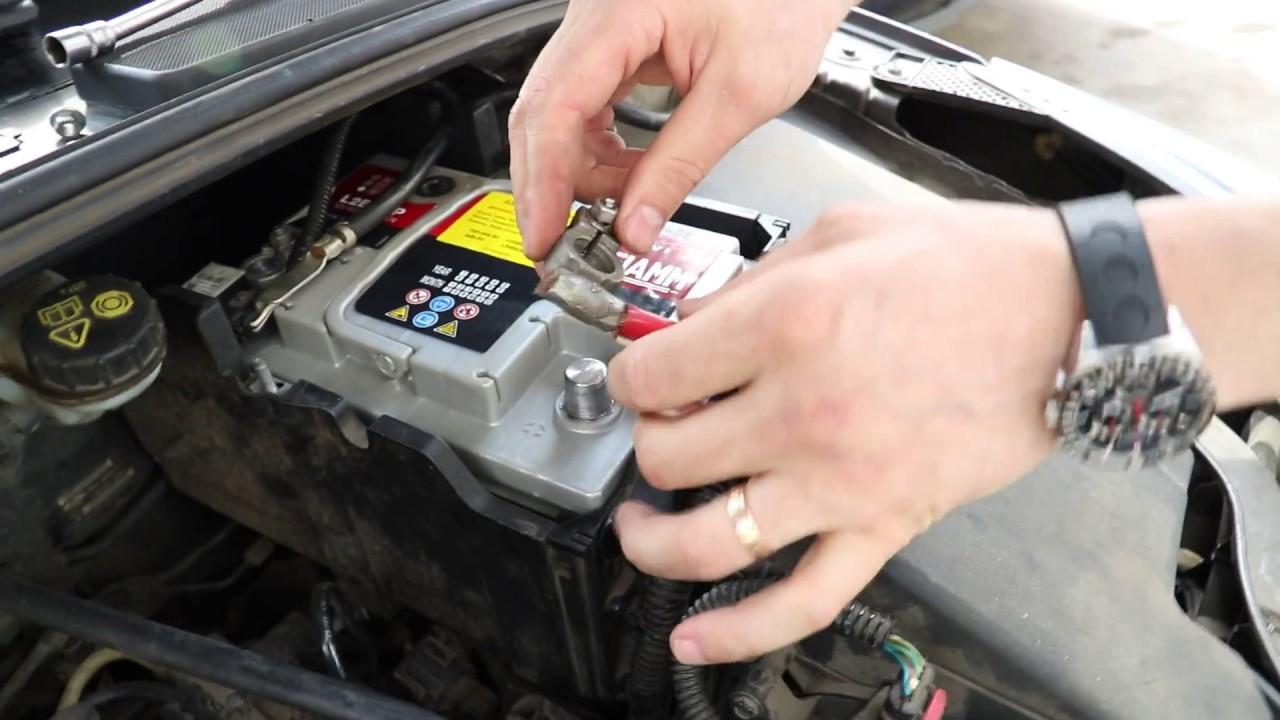 ford s-max снятие аккумулятора