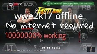 Play wwe 2k17 offline (without internet) by moded Anon cloud apk 2000% working with proof given
