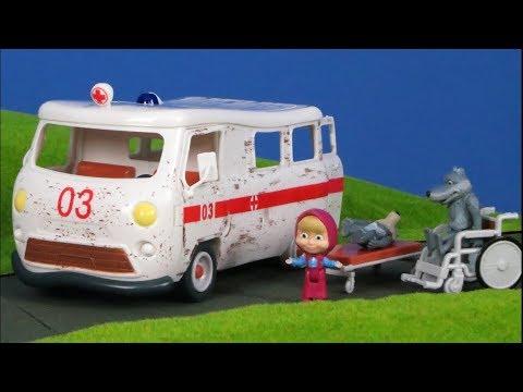 ماشا و الدب : سيارة اسعاف مسلسل الكارتون ماشا و الدب