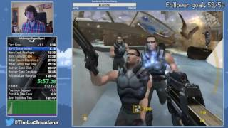 [WR]Goldeneye: Rogue Agent Any% in 1:17:44 (1:16:27 w/o disc change)