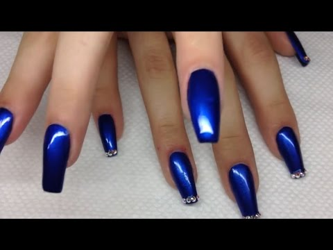 How To Blue Coffin Shape With Polish