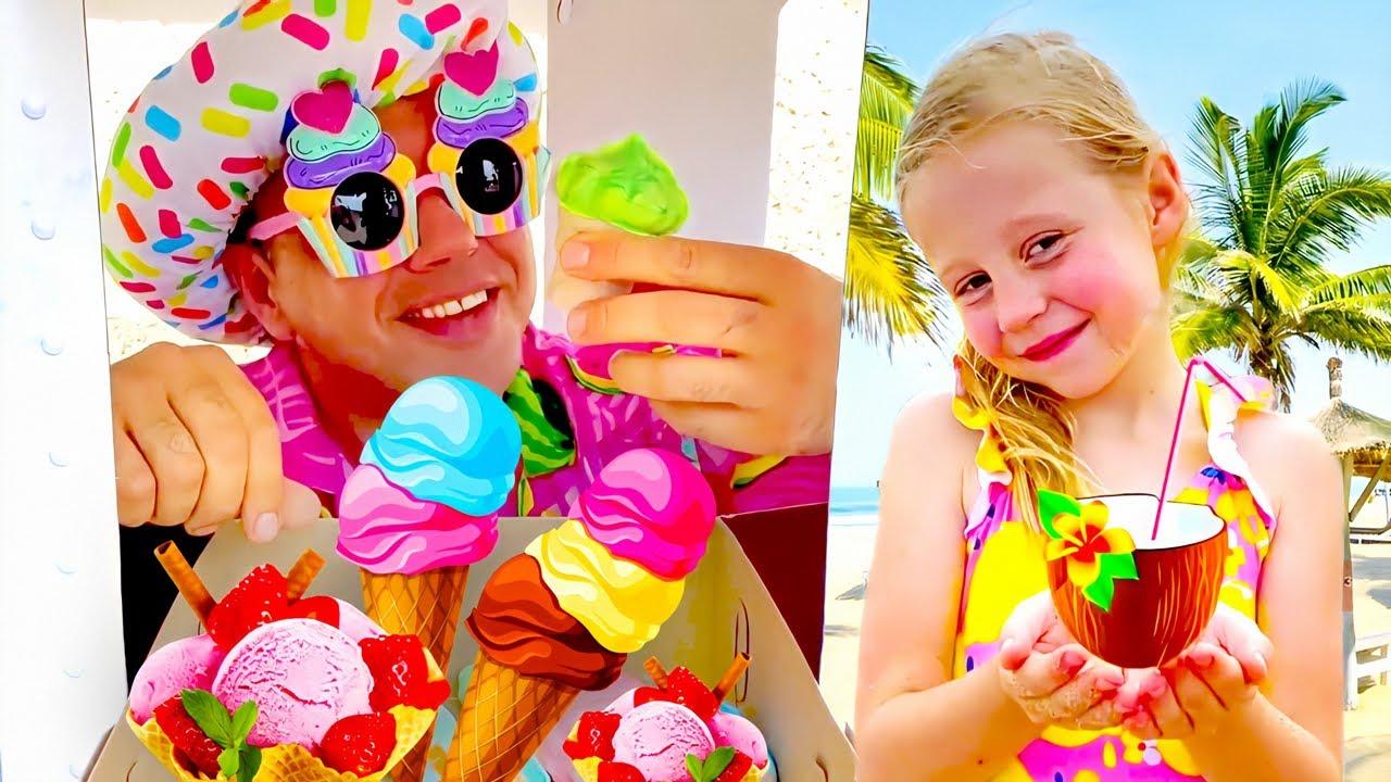 ناستيا وقصة رحلة الى الشاطئ ، سر عصير الليمون وايس كريم
