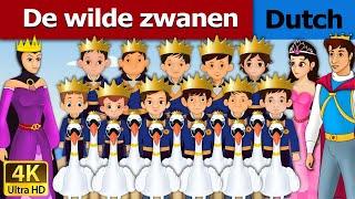 De wilde zwanen | Wild Swans in Dutch | 4K UHD | Dutch Fairy Tales