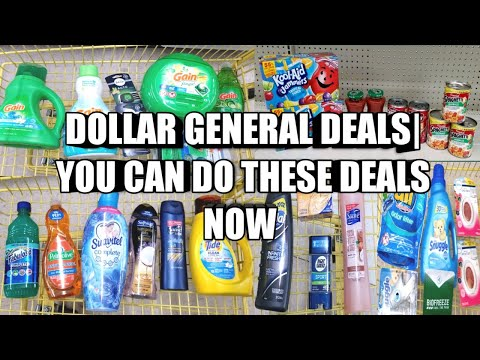 DOLLAR GENERAL DEALS| YOU CAN DO THESE DEALS NOW