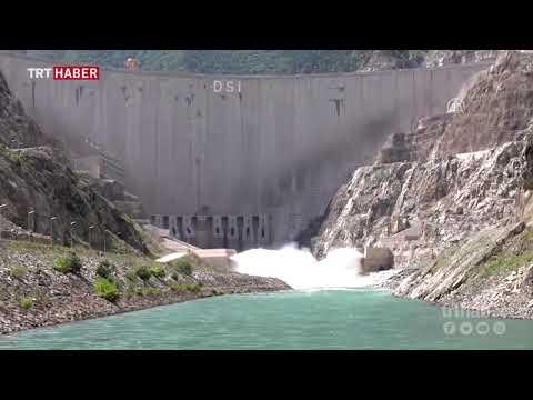 Çoruh'un '3. mavi gerdanlığı' Deriner Barajı havadan görüntülendi