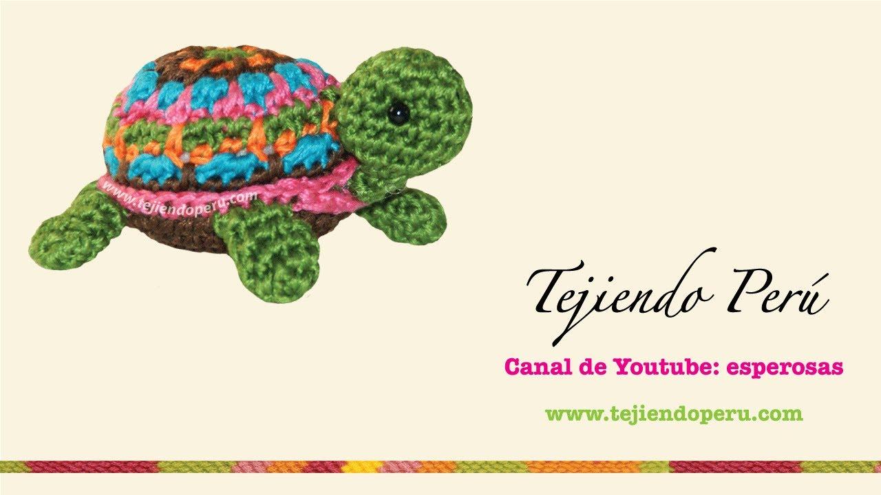 Tortuga pequeñita tejida a crochet (amigurumi little turtle) - YouTube